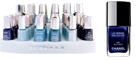 coleção Mavala e Blue Satin *sonho* da Chanel